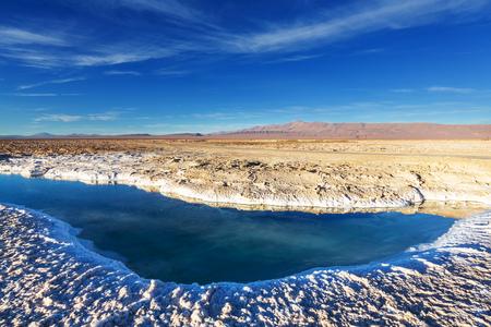 Ojo del Mar in a salt desert in the Jujuy Province, Argentina