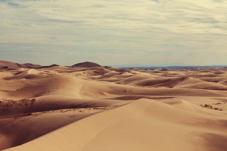 gobi: Dunes of the Gobi desert Stock Photo