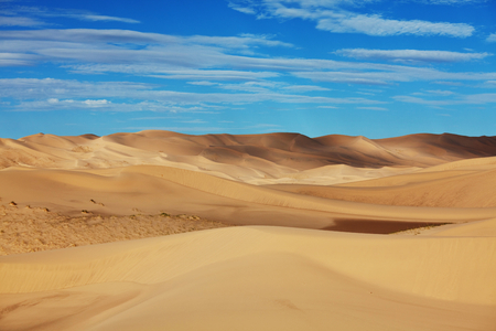 gobi desert: Dunes of the Gobi desert Stock Photo