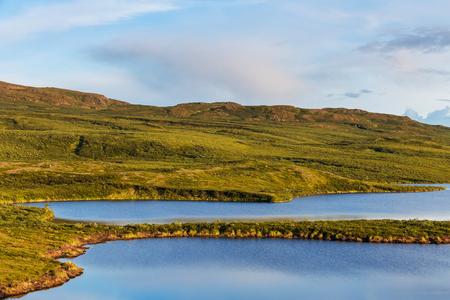 Tundra landscapes above Arctic circle Imagens - 57389322