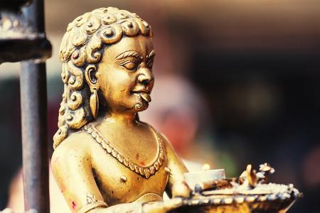 kathmandu: Statue in Kathmandu, Nepal