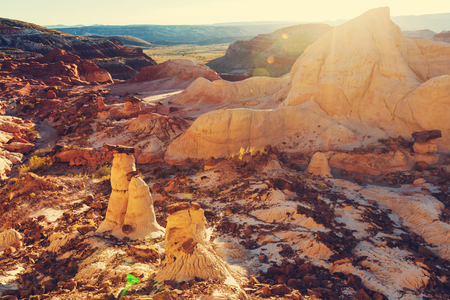formations: Sandstone formations in Nevada