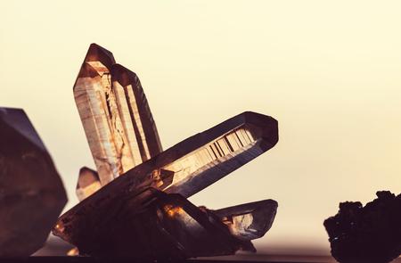 rock salt: Natural mineral Crystal close up