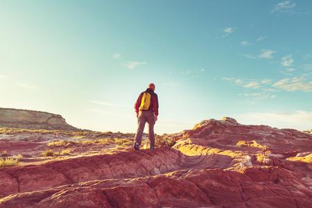 Hike in the Utah mountains 免版税图像