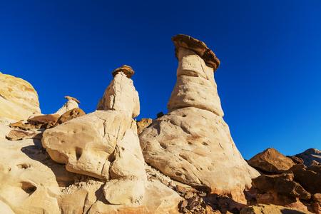 Sandstone formations in Nevada, USA Фото со стока