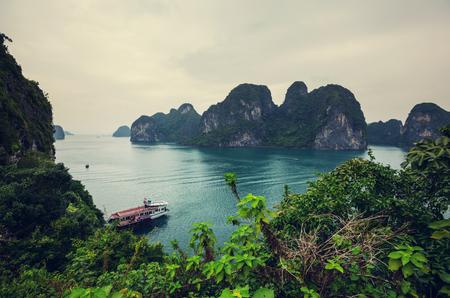 halong: Rocks of Halong Bay, Vietnam Stock Photo