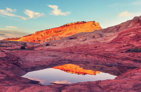 cliffs: Vermilion Cliffs National Monument Landscapes at sunrise Stock Photo