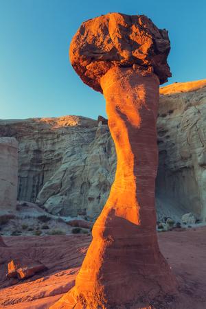 nevada: Sandstone formations in Nevada, USA Stock Photo