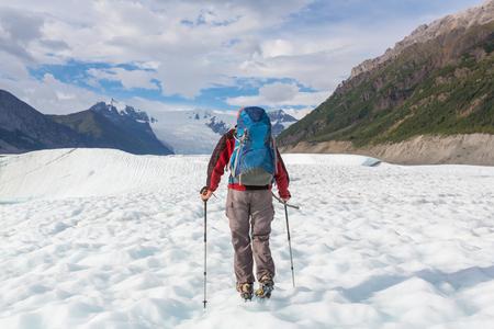 alaska: Ascent to Donoho peak, Alaska Stock Photo