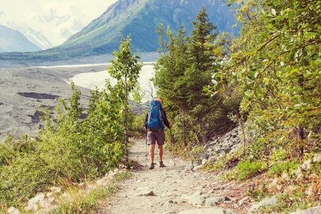 ascent: Ascent to Donoho peak, Alaska Stock Photo