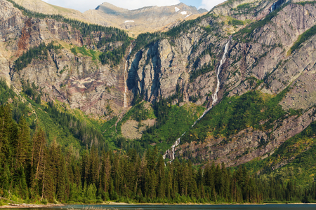 avalanche: Avalanche lake in Glacial national park in Montana