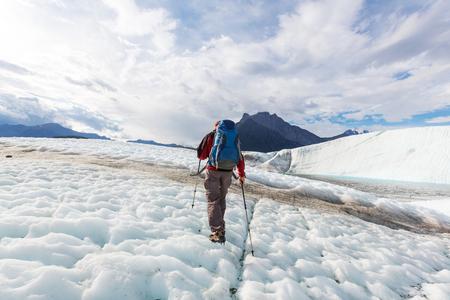 Hike in Wrangell-St. Elias National Park, Alaska. Imagens - 59463728