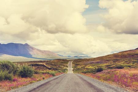 alaska scenic: Scenic highway in Alaska, USA