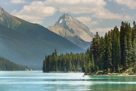 Picturesque Canadian mountains in summer Stok Fotoğraf