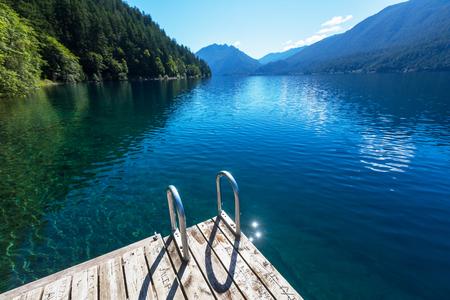 crescent lake: Lake Crescent at National Park, Washington, USA