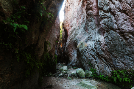 defile: Avakas Gorge. Paphos District, Cyprus Stock Photo