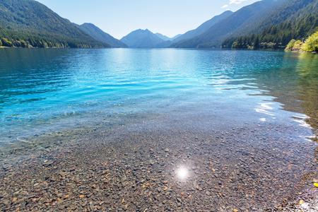 crescent: Lake Crescent at National Park, Washington, USA