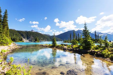 adventure holiday: Hike on Garibaldi Lake near Whistler, BC, Canada.