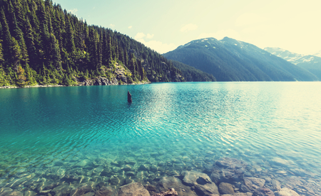 landschap: Wandeling over Garibaldi Lake in de buurt van Whistler, BC, Canada.