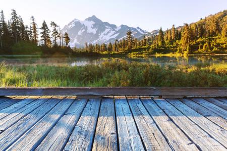 Picture lake and mount Shuksan, Washington