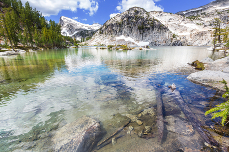 enchantment: Beautiful Alpine lakes wilderness area  in Washington, USA Stock Photo