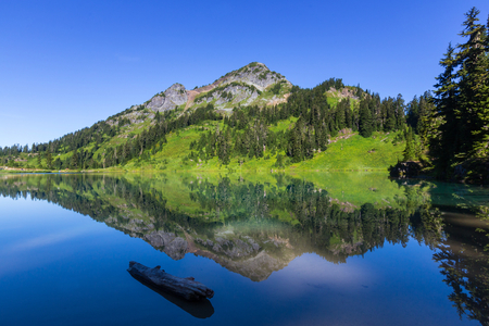 recreational area: Twin lakes in Mt.Baker Recreational Area,Washington, USA