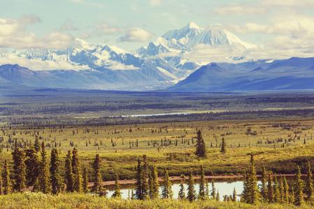 denali: Denali (McKinley) peak in Alaska, USA Stock Photo