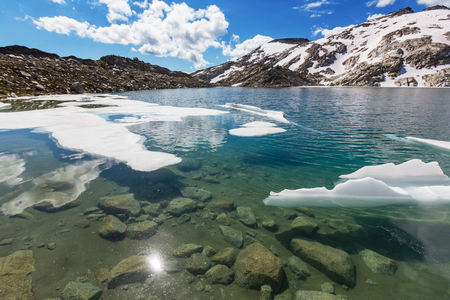 wilderness area: Beautiful Alpine lakes wilderness area  in Washington, USA Stock Photo