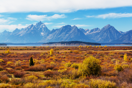 romantic places: Autumn in Grand Teton National Park, Wyoming