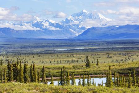 Denali (McKinley) peak in Alaska, USA Stockfoto