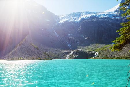 majestic: Beautiful Joffre lake in Canada Stock Photo