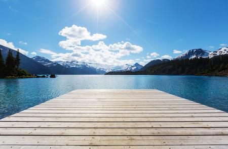 summertime: Hike on Garibaldi Lake near Whistler, BC, Canada.