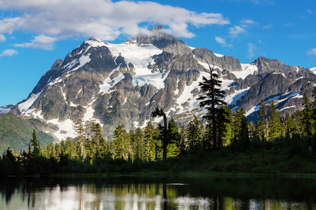 mount: Picture lake and mount Shuksan, Washington