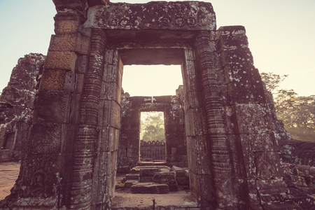 ancient civilization: Ancient Khmer civilization ruins of Angkor near Siem Reap, Cambodia Stock Photo