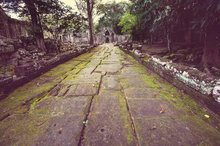 khmer: Ancient Khmer civilization ruins of Angkor near Siem Reap, Cambodia Stock Photo