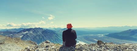 lejos: Vista desde el pico Donoho, Alaska
