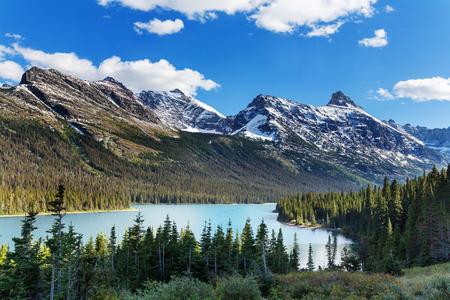 picos rocosos pintorescos del Parque Nacional Glacier, Montana, EE.UU.
