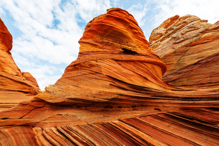 Coyote Buttes of the Vermillion Cliffs Wilderness Area, Utah and Arizona Stock Photo