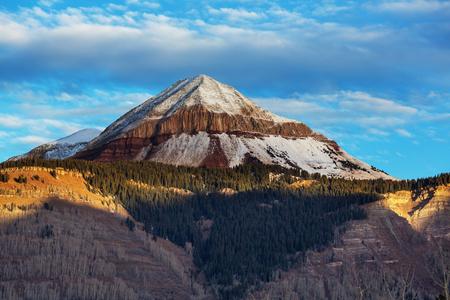 Mountain Landscape in Colorado Rocky Mountains, Colorado, United States. Stock Photo