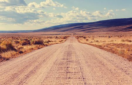 大草原の国の道路 写真素材