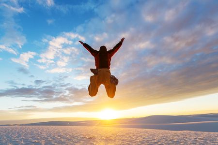 winner man: Jumping boy