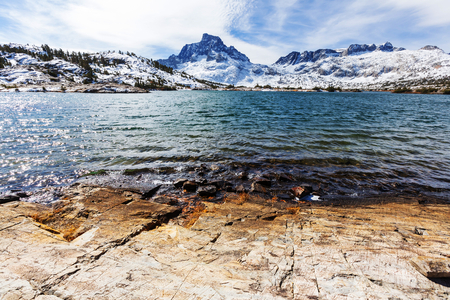 mammoth lakes: Thousand islands lakes, Eastern Sierra, California, USA.