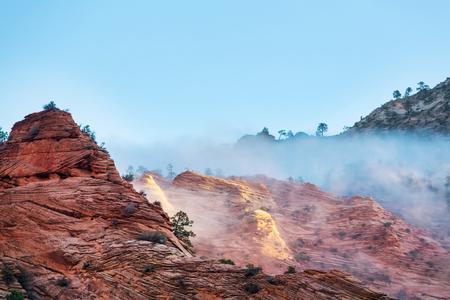 beautiful nature of the mountain Stock Photo
