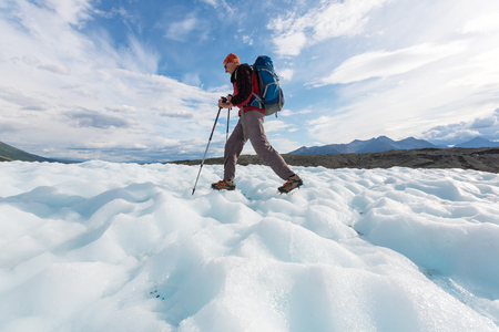 Hike in Wrangell-St. Elias National Park, Alaska. Imagens