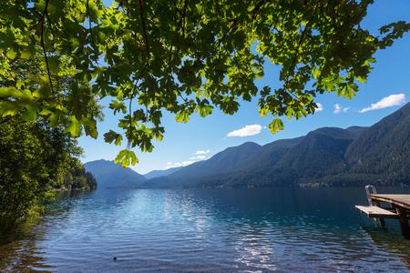 olympic national park: Lake Crescent at Olympic National Park, Washington, USA