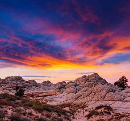 Vermilion Cliffs National Monument Landscapes at sunrise Stock Photo