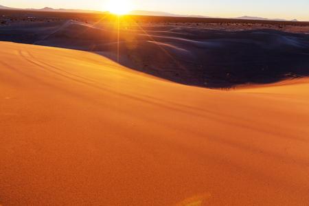 Sand dunes in the Sahara desert Stock Photo