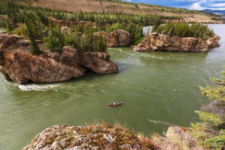 yukon territory: Canadian landscapes of the Klondike Stock Photo