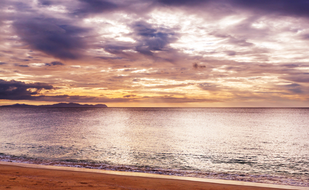 Scenic Colorful Sunset At The Sea Coast Good For Wallpaper Or Background Image Stock