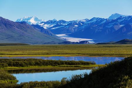 Landscapes on Denali highway, Alaska. Stock Photo
